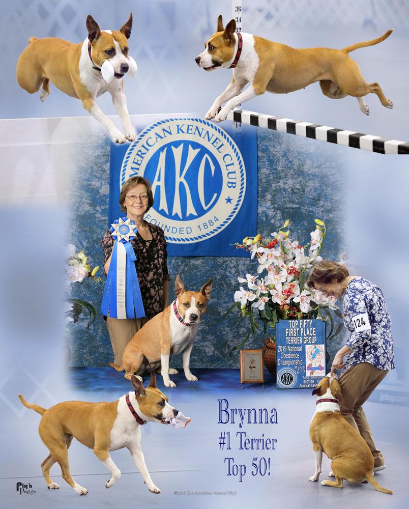Sylvie with a dog